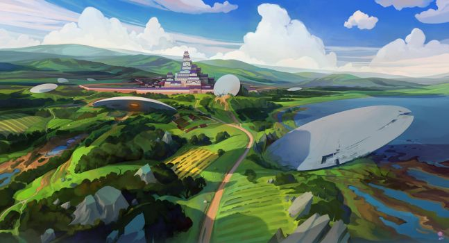 Valley of the UFOs in Medieval Japan by haryarti