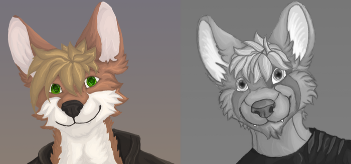 New Avatar (More Anthro Furry Practice) by Hircreacc