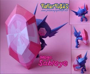 M-Sableye Papercraftt by Olber-Correa