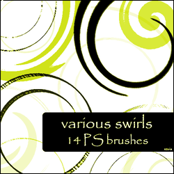 various swirls brushes by szuia
