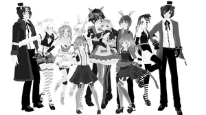 [MMD] [FNAF 1-2]THANK YOU 400WATCH!FNAF PACK NO DL by Natsumy-Paradise