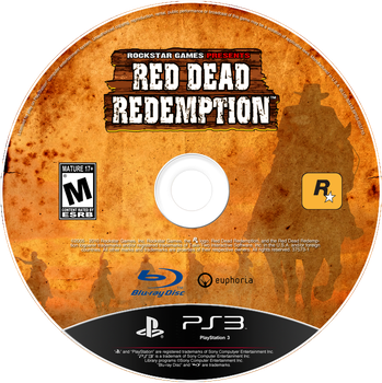 Red Dead Redemption Game Disc With Custom Logo by FajitaPitaGuy