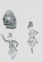 Sktech Dump : Scottish Dancers by Shizuko-Akatsuki