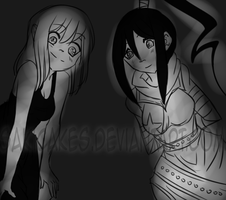 .::Arttrade::. Tsubaki and Celina by SakiCakes