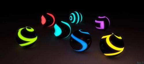 Glowing  Balls for Jim and Kai by isider