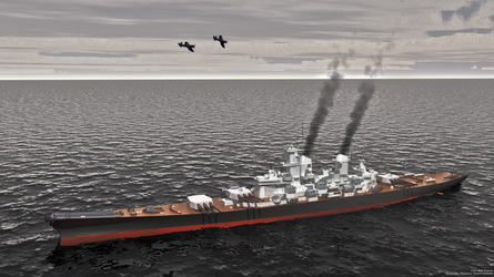 Off the coast of Japan 1945 by starfleet