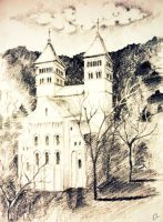 Romanic cathedral by dr4wing-pencil