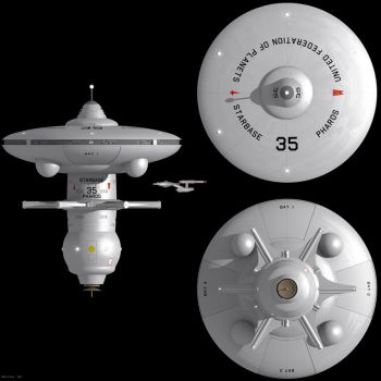 Watchtower Class Starbase Orthographic Views by Rekkert