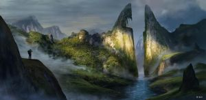 The Uncharted Mountains by WyaWy