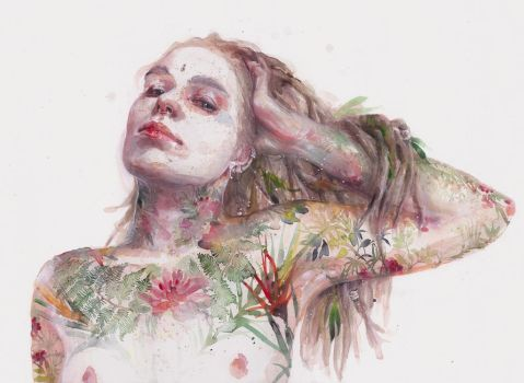 Leaves on Skin by agnes-cecile