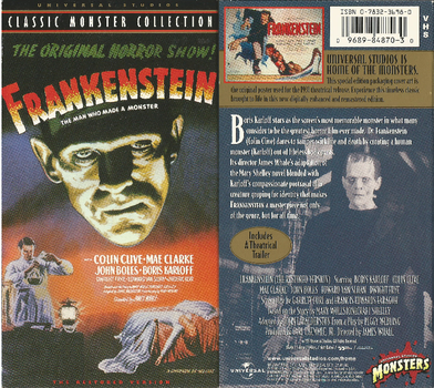 FRANKENSTEIN 1931 on good 'ol VHS by DARKZADAR-ZERO