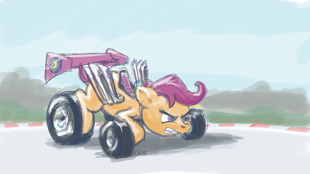 Scoota-racer by GiantMosquito
