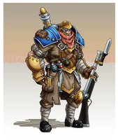 IKRPG Commission - Ogrun Trencher by nfeyma