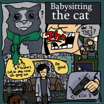 Babysitting the Cat - A Sherlock Comic by UnicornsInTheDryer