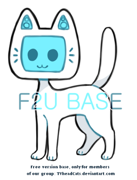 {f2u} TV head cat base - FREE ver. by Alisenokmice