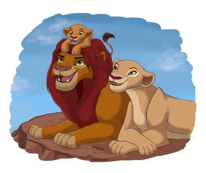 The Lion King 2 - family by blueiceflower