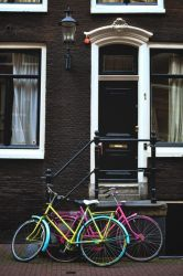Amsterdam  - Fluorescent bikes by Laurent-Dubus