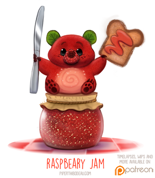 Daily Paint 1516. Raspbeary Jam by Cryptid-Creations