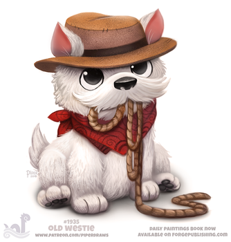 Daily Paint 1935# Old Westie by Cryptid-Creations
