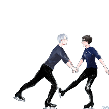 [Yuri!!! on Ice] by a-zebra-was-here