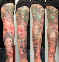 tattooed arm by graynd