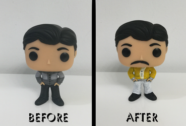 Freddie Mercury POP Vinyl Custom by SyrinxPriest2112