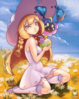 Lillie and Nebby by Foxilumi