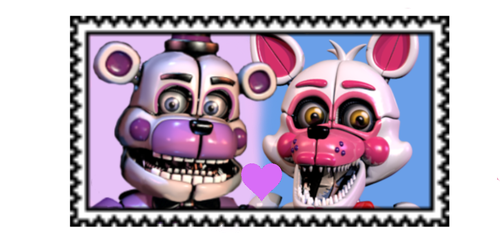 REQUEST: Funtime Frexy stamp: F2U by TinkerBellTheChihua