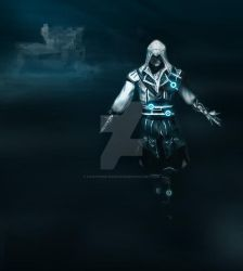 Ezio Auditore on Tron by fairyness-painting