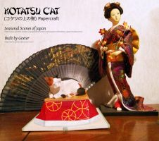Seasonal Scenes of Japan - Kotatsu Cat Papercraft by g3xter