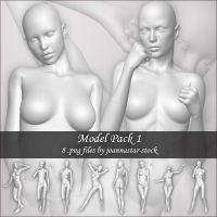 Model Pack 1 by joannastar-stock