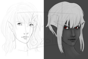 Current Works in Progress by Asteyni