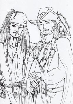 ..Will Turner and Jack Sparrow by bmxchik