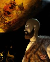 Paleolithic Self Portrait by ChemaIllustration