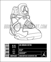 Air Jordan 8 Template alt by BBoyKai91 on DeviantArt 983a7fe3d