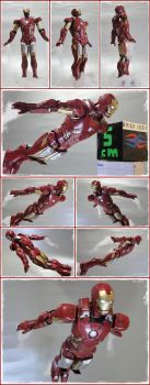 IRON MAN paperfigure through the skies by BRSpidey