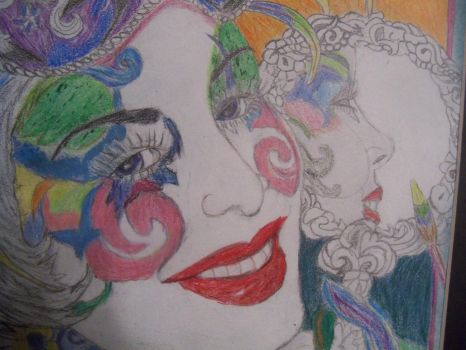 Glamming up for Mardi Gra ( close up) by TheCyberRaven
