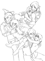 Three Couples Yugioh by GozenYuji