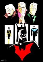 Batman Beyond and Classic Bats by Captain-Batman