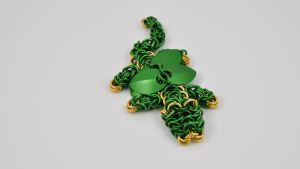 Chainmaille Dragon - Green by McRobertsChainmaille