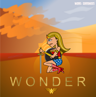 Lindsay Wonder Woman Movie Poster by Gordon003