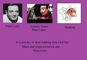 Seaking, The Peter Lorre pokemon by TheWalrusclown