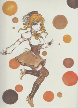 Coloured! Tomoe Mami by Frenzydaydreamer11