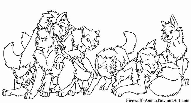 Request - Wolf Pack 2 by Firewolf-Anime