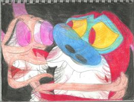 Scared Ren and Stimpy 1 by RozStaw57