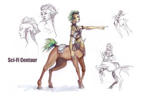 Sci-Fi Centaur by FionaCreates