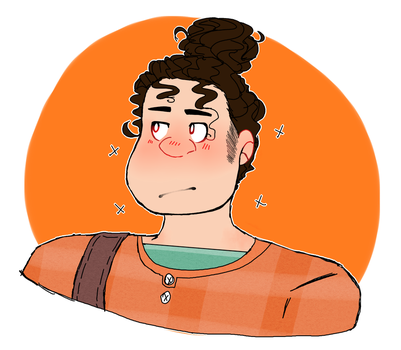 Man bun by heresitsbadartofmine