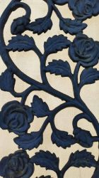backlit wrought iron roses by E1L0n3wy