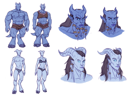 Sexual Dimorphism in WoW Draenei by huldahuoleton
