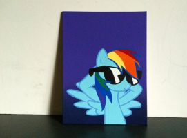 Rainbow Glasses Stencil by mittens2248